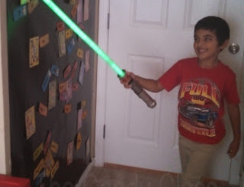 Space, Sight Words, a Light Sword, and a Freebie Link