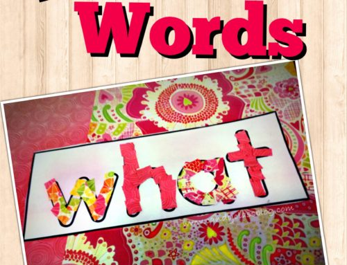 Learning Sight Words with Scrapbook Paper