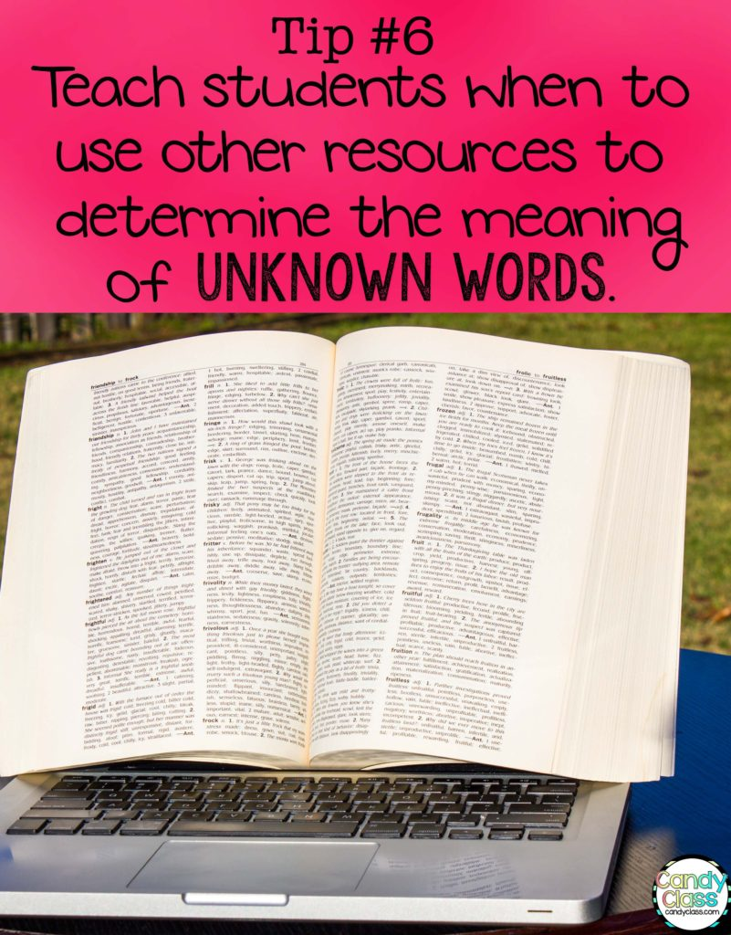 Vocabulary Strategies Tip on Using Dictionaries