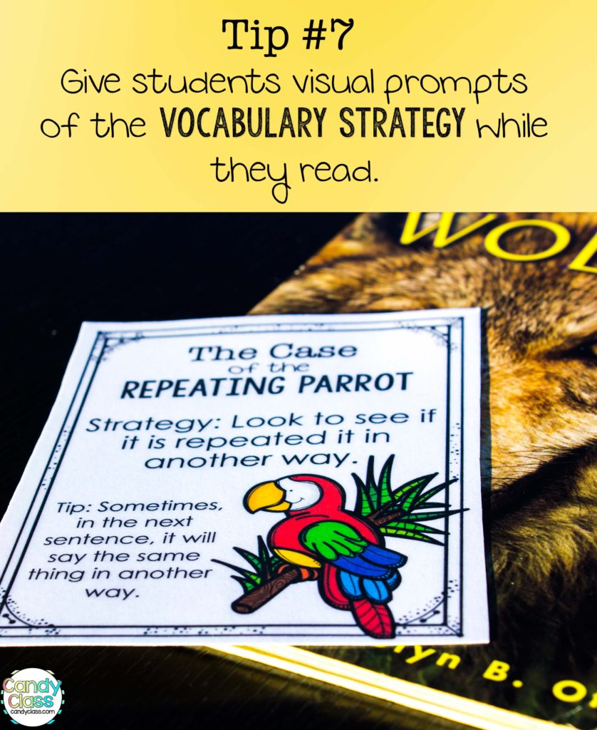 Vocabulary Strategies Prompt Tip