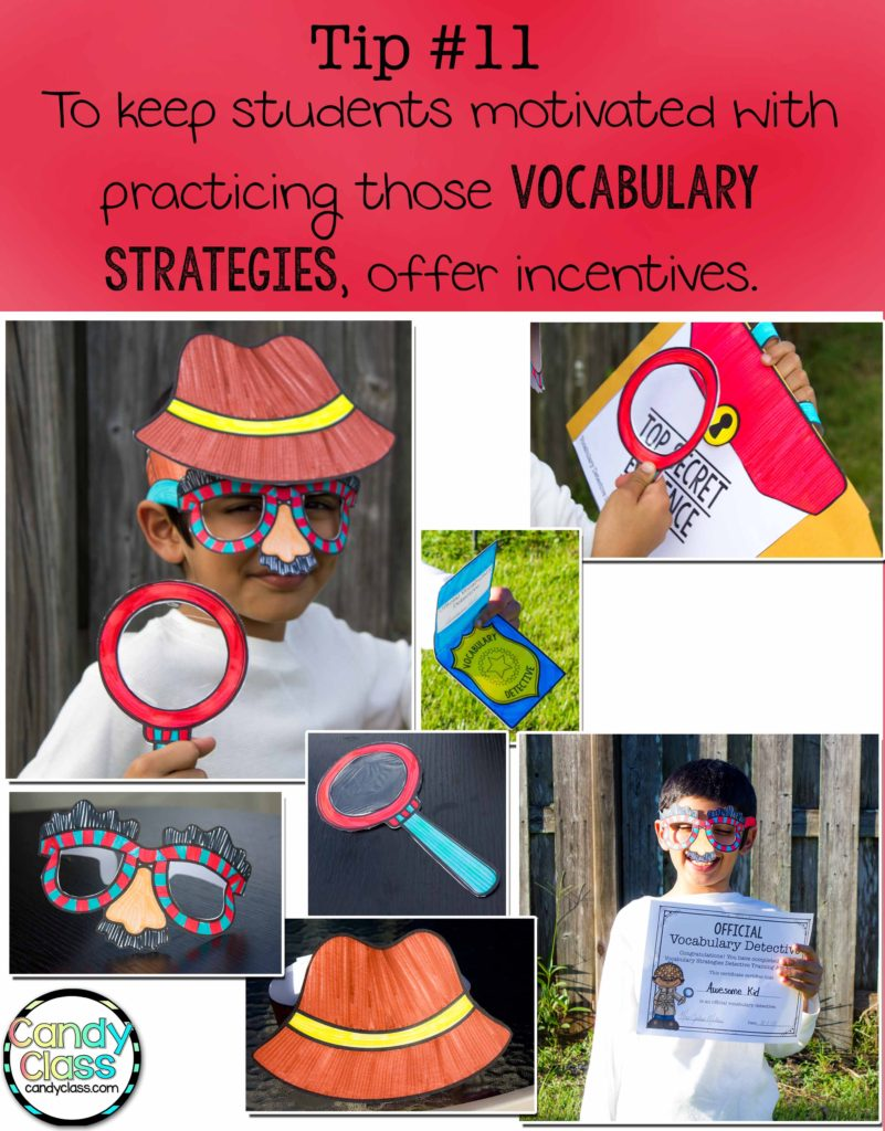 Vocabulary Strategies Incentive Tip