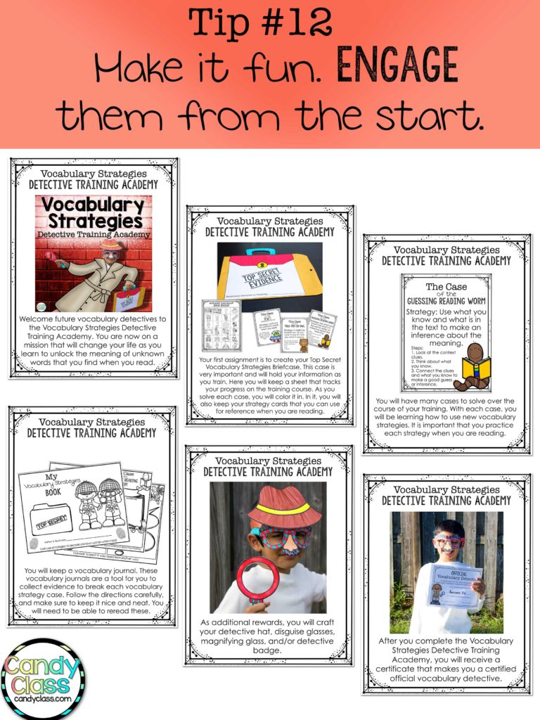 Vocabulary Strategies Engagement Tip