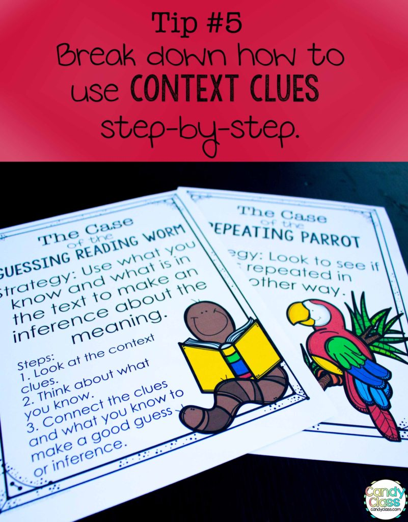 Vocabulary Strategies Tip to Break Down Context Clues