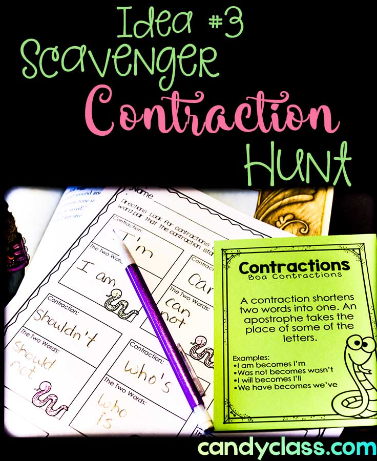 Contraction Activity: Scavenger Hunt While Reading