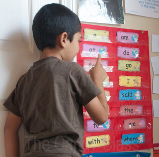 Pocket Chart with Sight Words