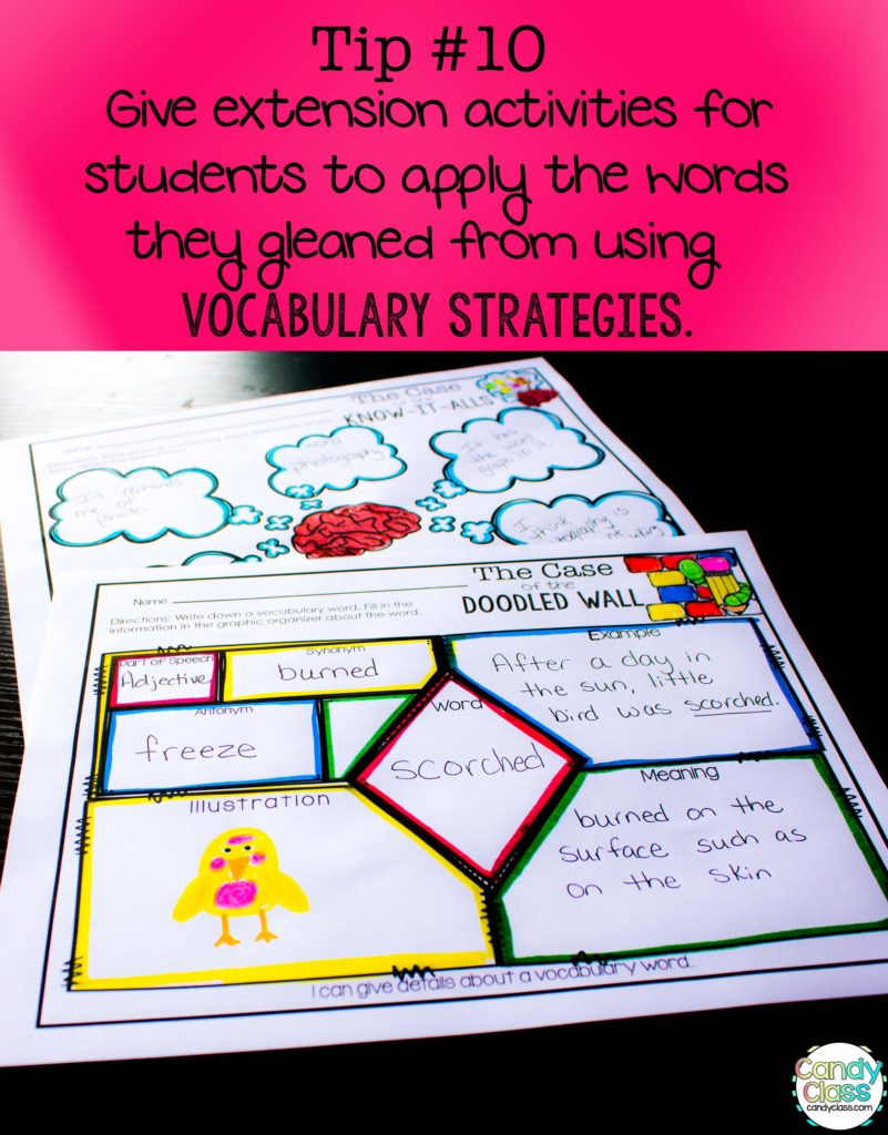 Vocabulary Strategies Extension Tip
