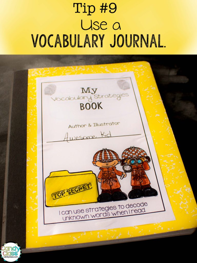 Vocabulary Strategies Journal Tip