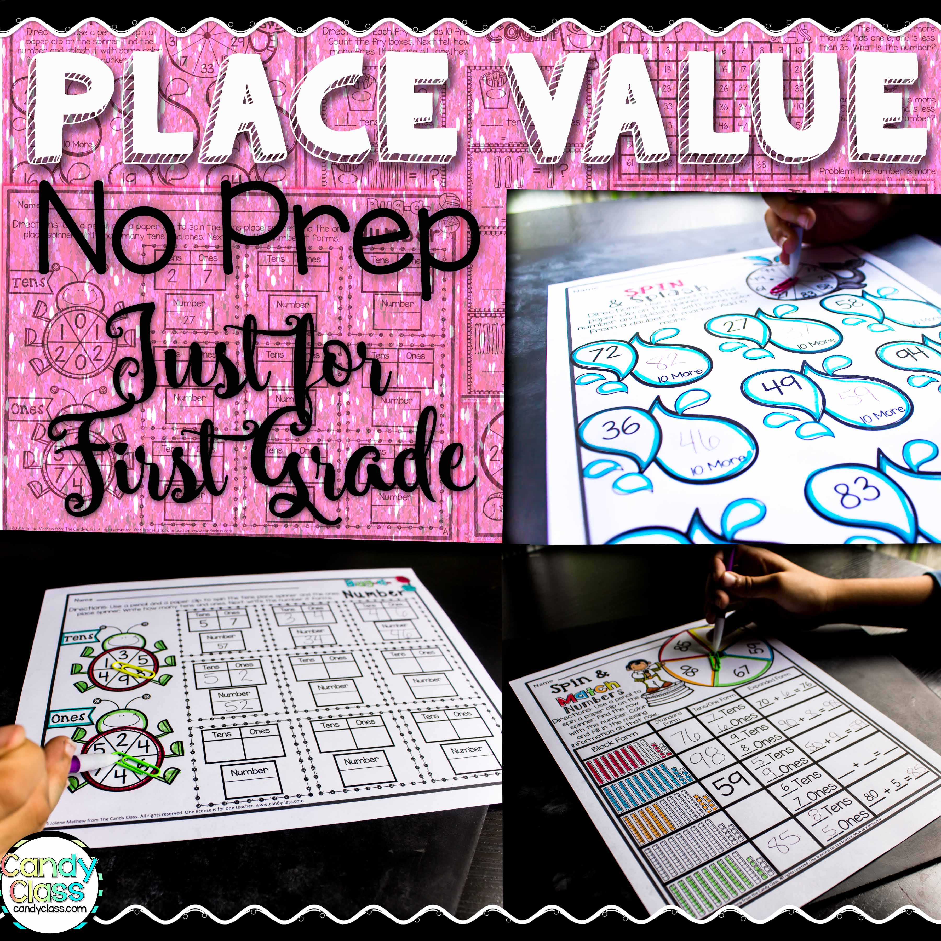 place value printables cover update