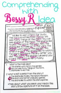 Reading comprehension passage with bossy r