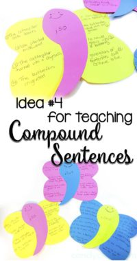 Comma Butterfly for Teaching Compound Sentences