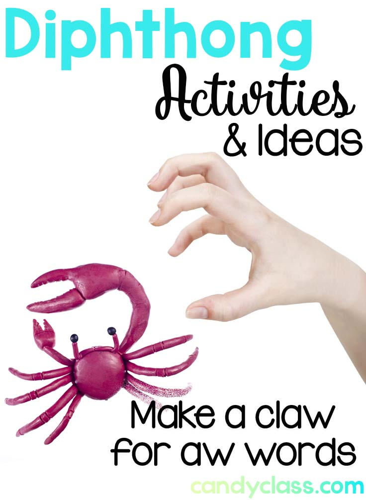 Use your claws for the aw sound phonemic awareness activity