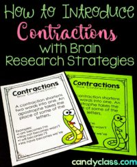Teaching Contractions with Brain-Based Research Strategies