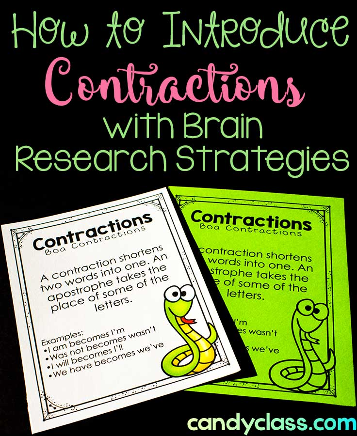 Ideas For Not Teaching A Boring Contraction Lesson A Freebie The