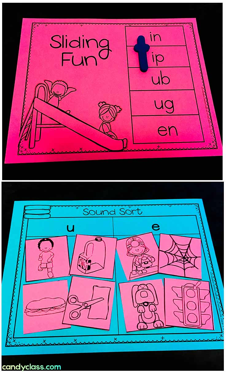 Examples of Word Work Activities