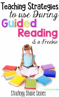 Find some teaching strategies to use during guided reading in this strategy share post.
