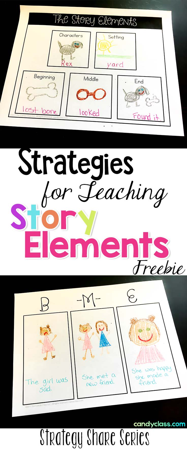 Picture of graphic organizers for teaching story elements