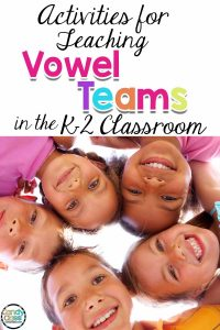 activities for teaching long vowel teams