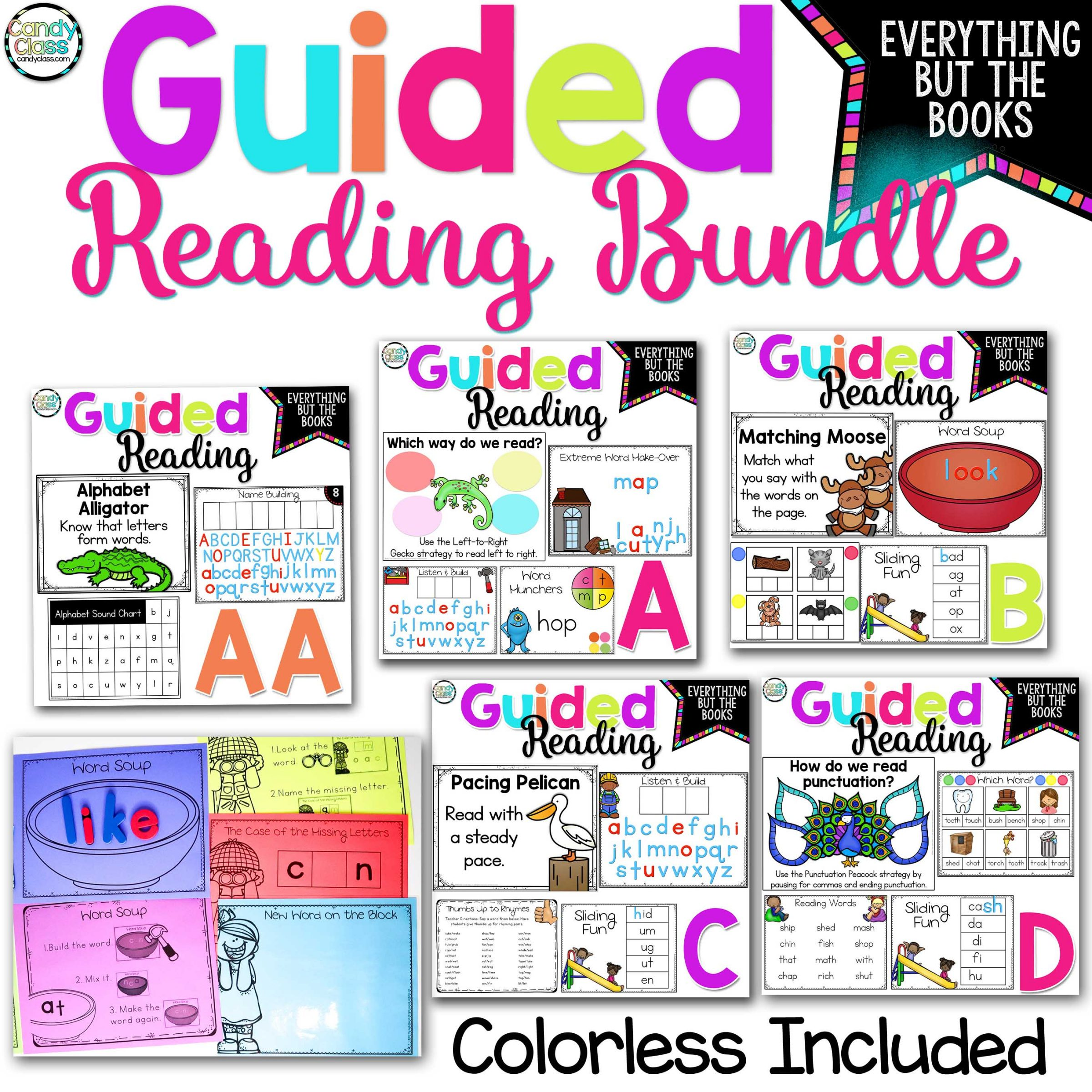 Guided Reading Mega Bundle with Lesson Plans and Activities