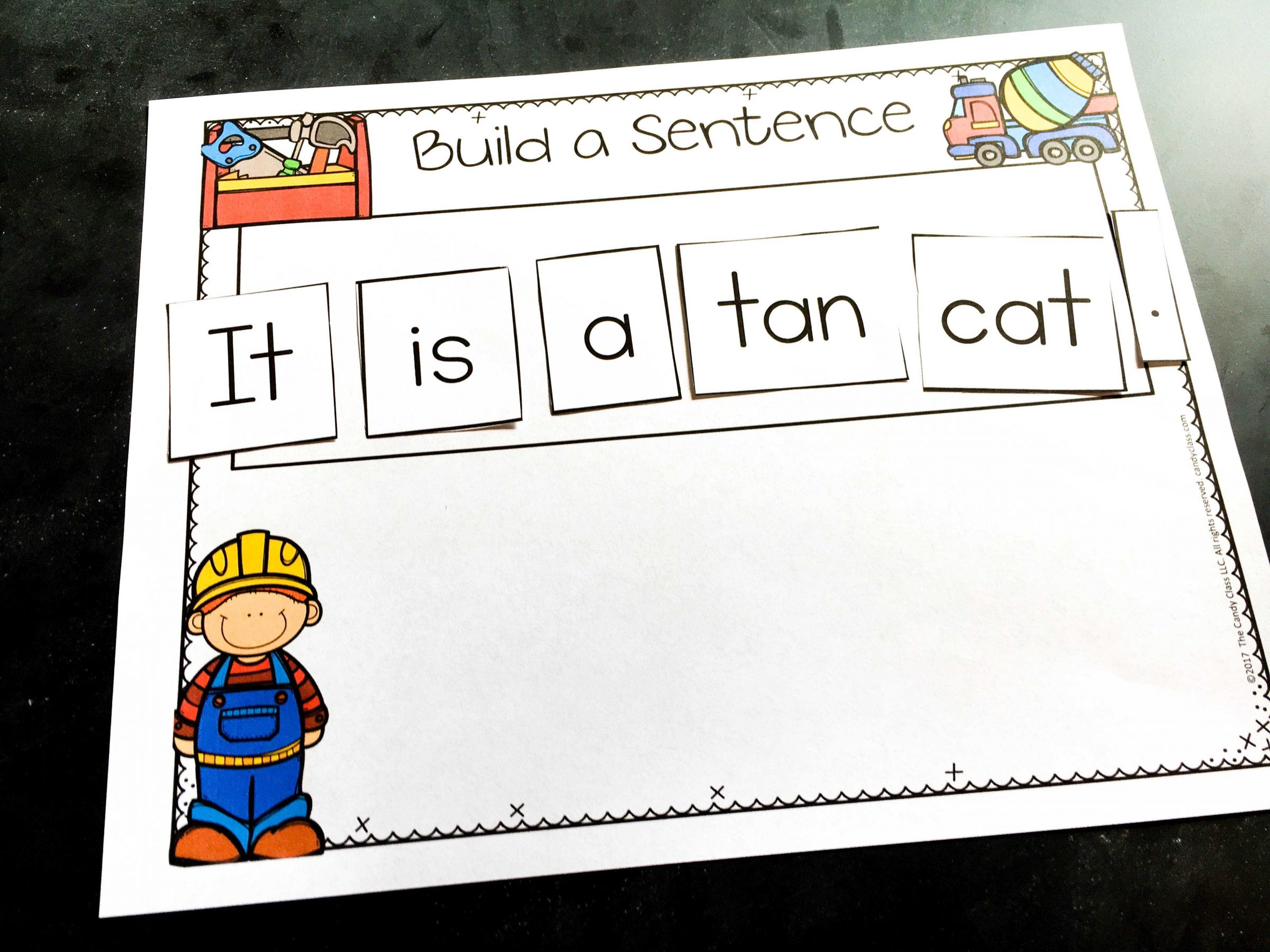 Guided Writing Dictated Sentence