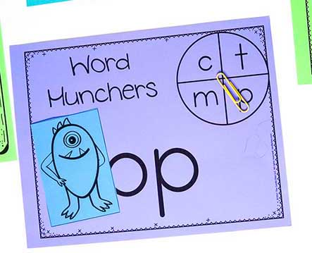 guided reading letter subbing activity for word work
