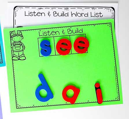guided reading word building activity