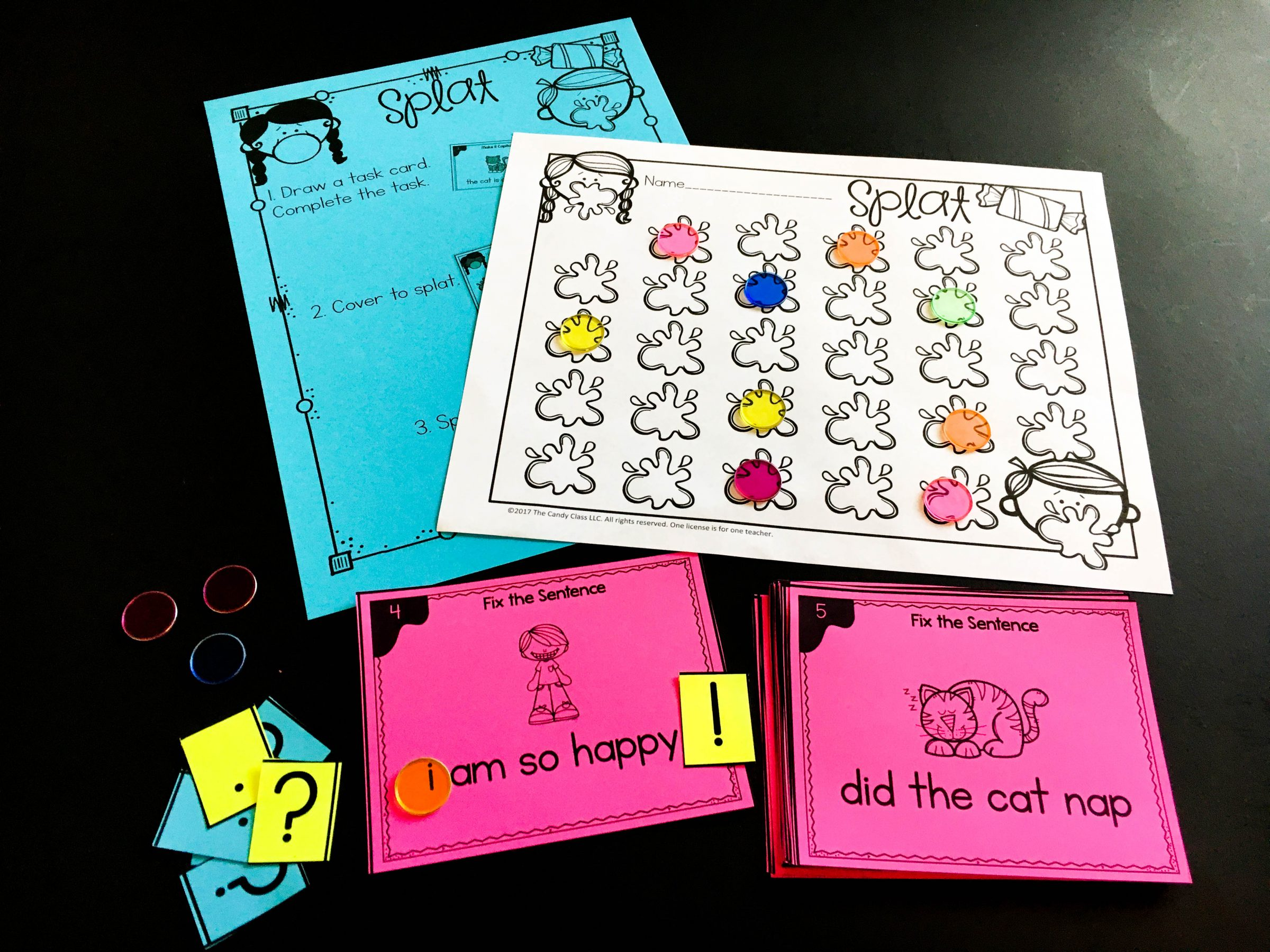 splat task card game