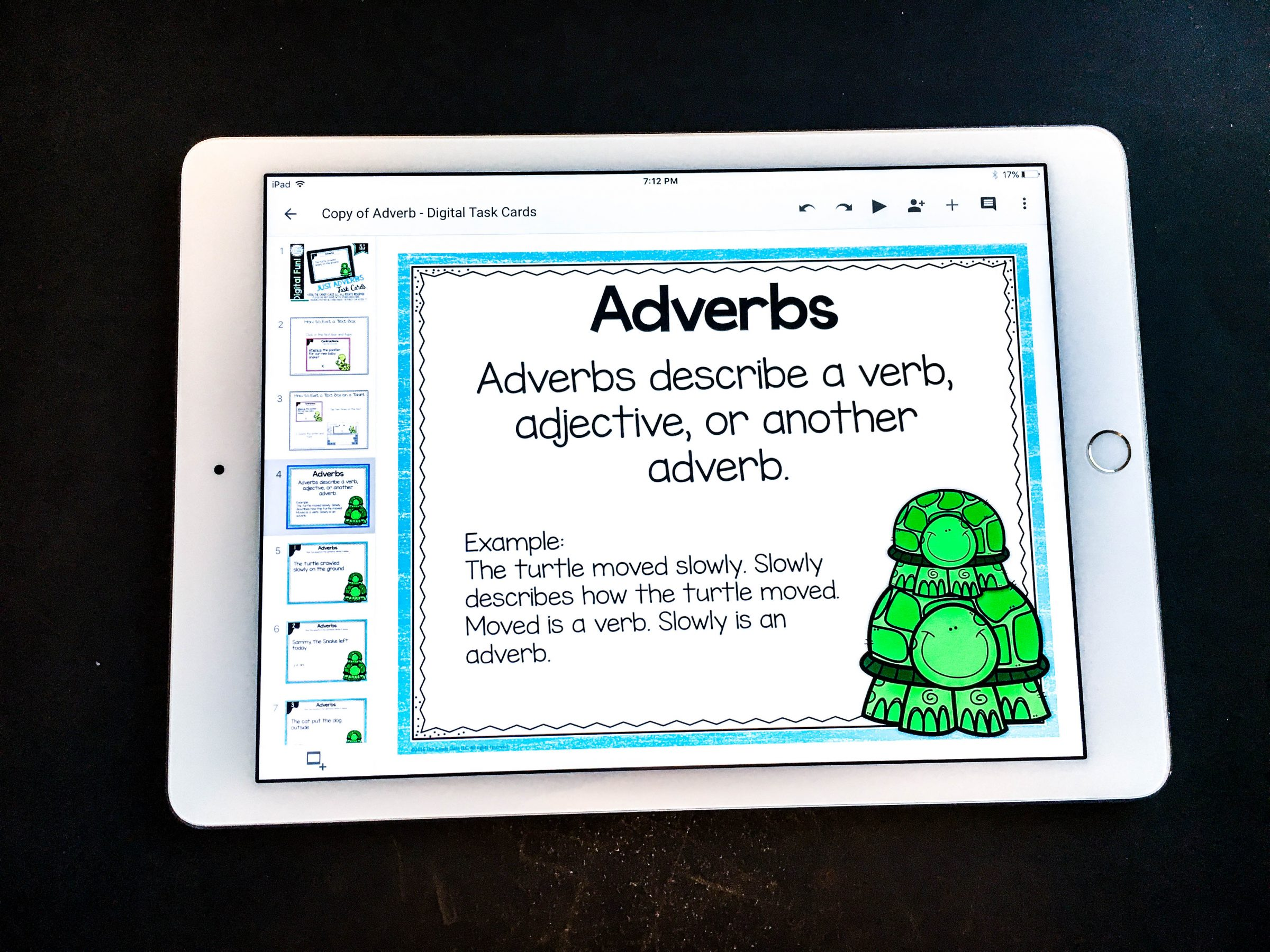 adverb digital task cards