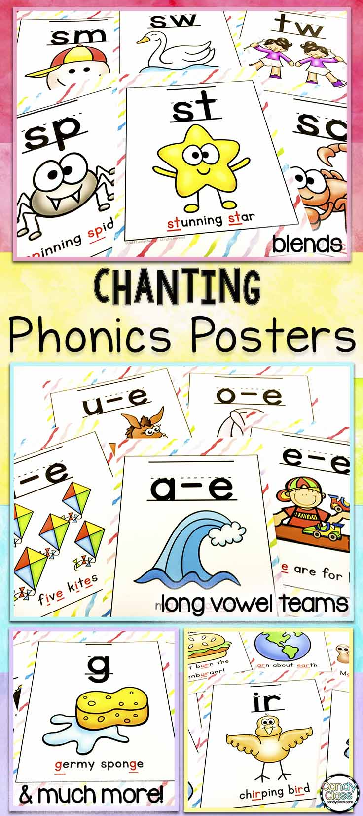phonics posters with chants