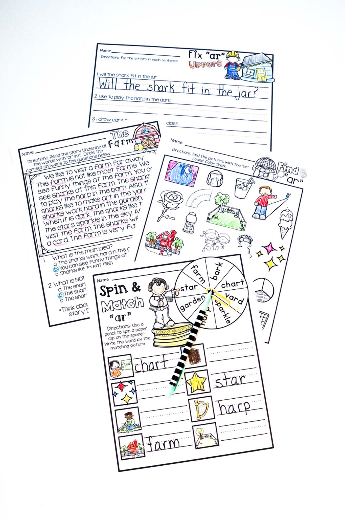 Free bossy r worksheets