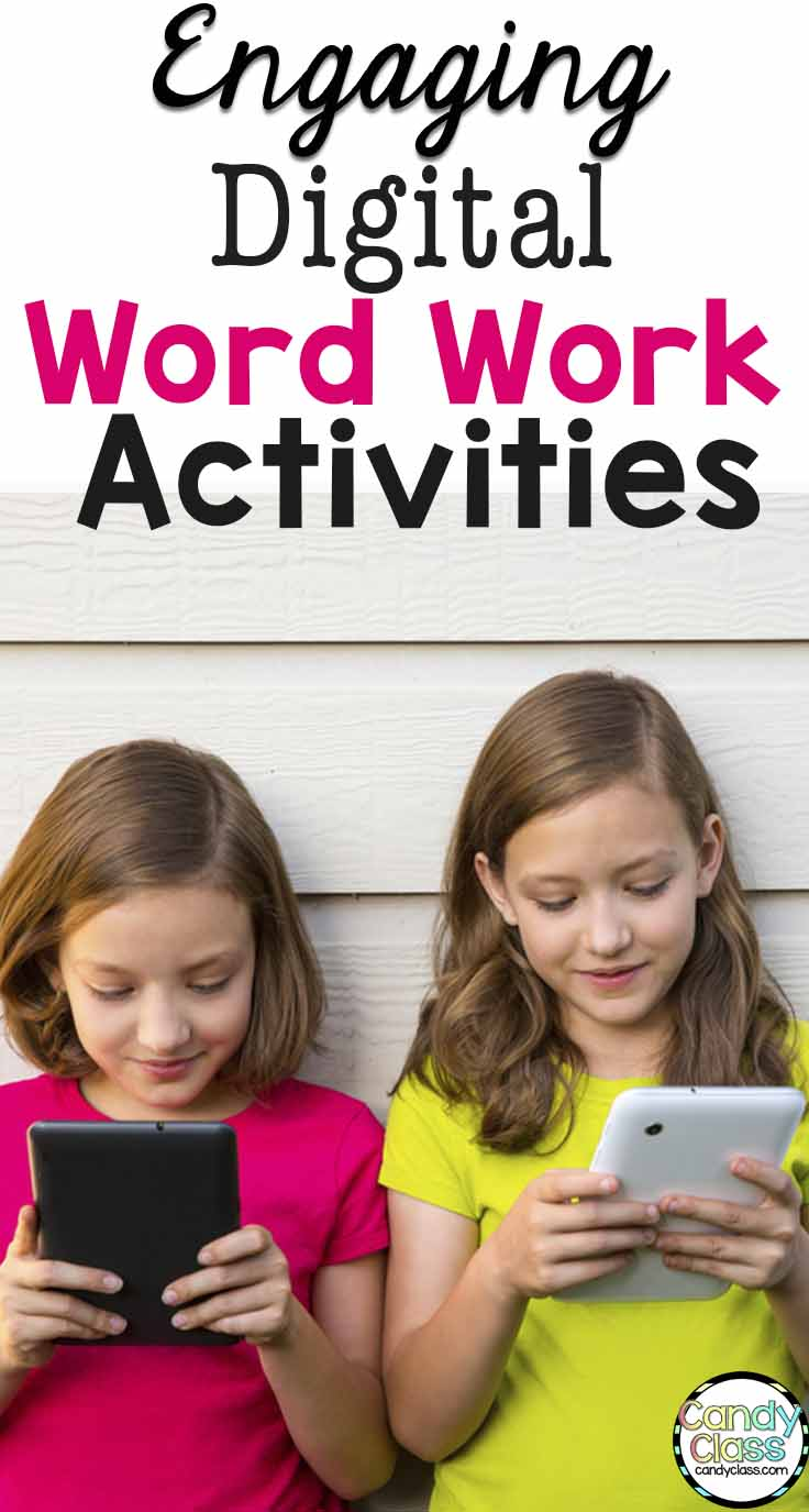 Engaging Digital Word Work Activities for Literacy Centers